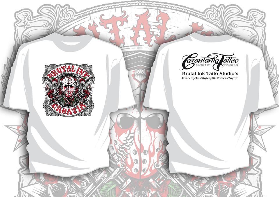 T Shirt Brutal Ink Bijela