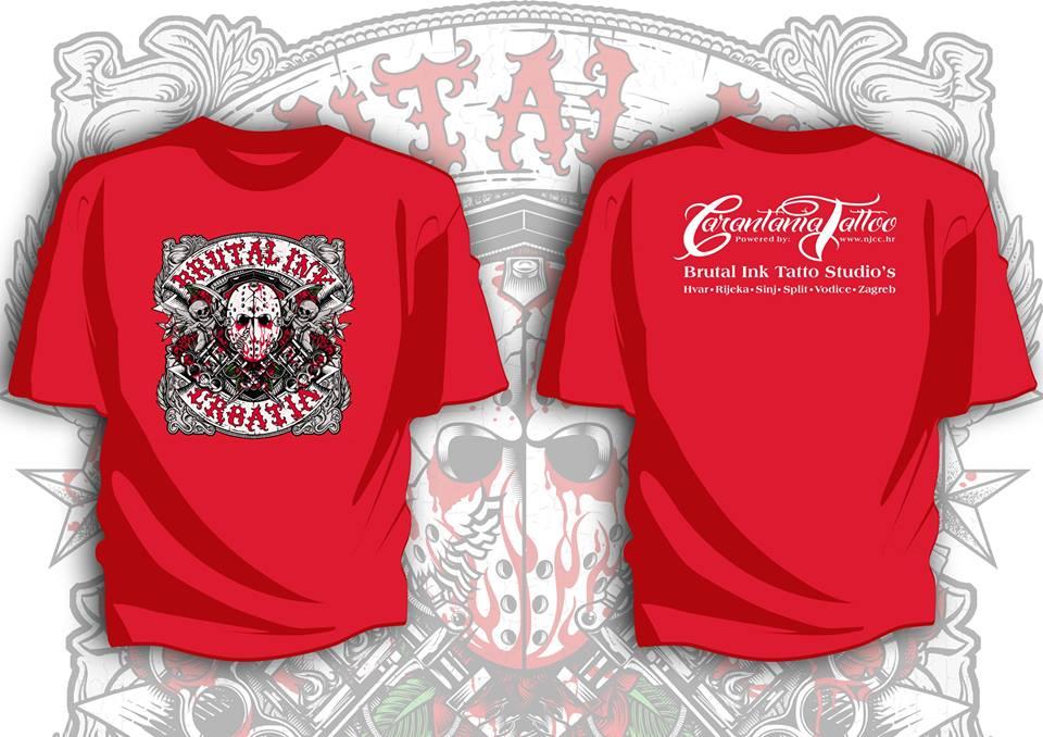 T Shirt Brutal Ink Crvena